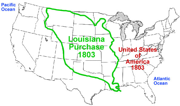 Maps Us Map Before Louisiana Purchase FileLouisianaPurchasepng